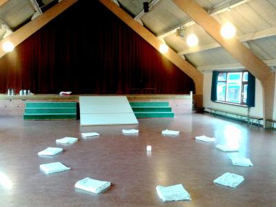Onze zaal in de Geert Groote School